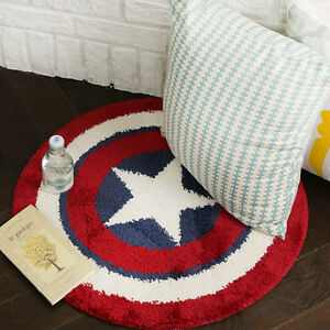 Image Is Loading Round Floor Rug Avengers Captain America Shield Bath