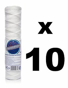 """10 X 5 Micron Filtre Sédiment String-wound 10 """", Filtre à Eau, Osmose Inverse, Ro.-afficher Le Titre D'origine Pourtant Pas Vulgaire"""