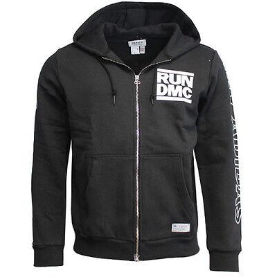 Adidas Originals Run DMC Graphic Print Mens Black Zip Hoody M64175 U54