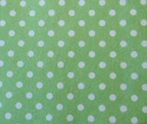 PRINTED-PATTERN-Acrylic-Felt-Green-with-White-Spots