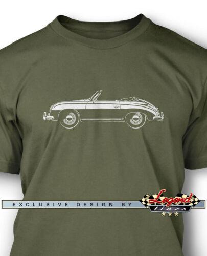 Multiple Colors Sizes German Car Porsche 356 Pre-A Convertible T-Shirt for Men