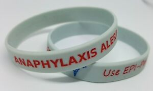 Image Is Loading 2x Anaphylaxis Medical Epi Pen Wristband Bracelet Allergy