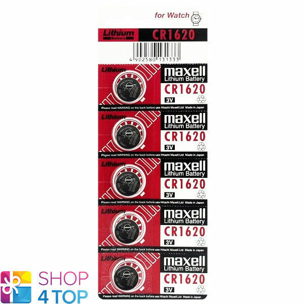 5 Maxell CR1620 Lithium Batteries 3V Coin Cell DL1620 Exp 2023 New