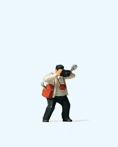 Preiser-28069-H0-Single-Figurine-034-Photographer-034-New-Original-Packaging