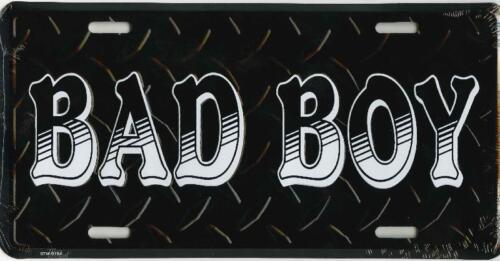 """Bad Boy Black Diamond Embossed 6/""""x12/"""" Aluminum License Plate Tag"""