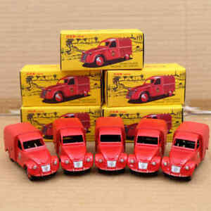 Lot-of-Atlante-1-43-Dan-TOYS-CITROEN-2cv-FOURGONNETTE-incendie-Diecast-Postal-CARS