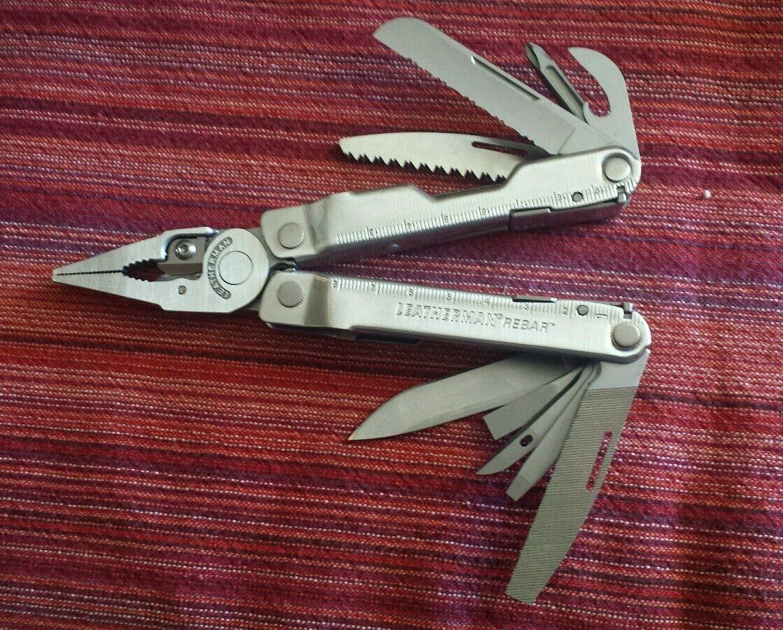 LEATHERMAN KNIFE MULTI TOOL REBAR USED MX1