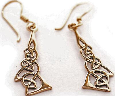 Bescheiden Edel Mittelalter Ohrhänger 3fach Keltischer Knoten Aus Bronze Unendlicher Knoten