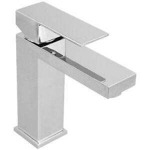 Welfenstein Waschtisch Armatur Wasserhahn Eckig Bad Chrom