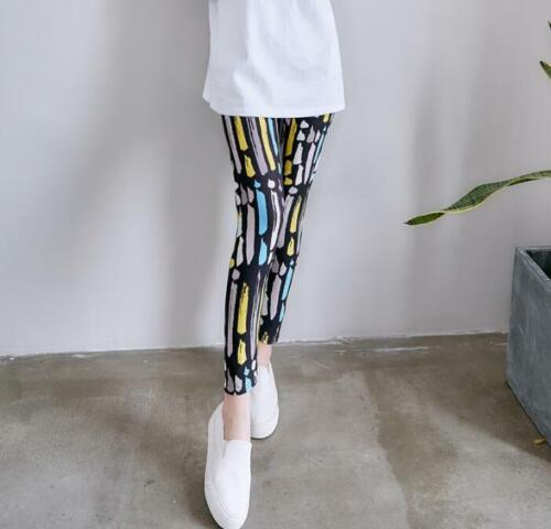 New Arrivals 36 Patterns Stripes Floral Printed Women Girls Leggings One size