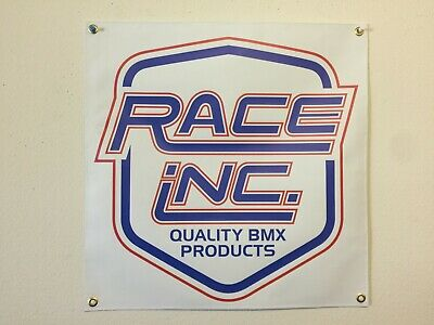 old school bmx race inc 2x2 banner mancave shop repro vdc gt