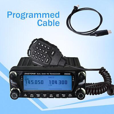 Zastone ZT-D9000 50W Car Walkie Talkie 50km UHF VHF Mobile Car Radio with Cable