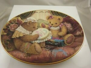 Friends are Fur-ever Franklin Mint by Sue Willis collector plate Teddy bear