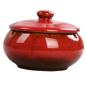 Ceramic-Ashtray-with-Lids-Windproof-Cigarette-Ashtray-Home-Indoor-Use-Red