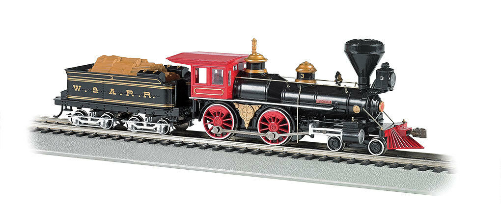 Scala H0 - Locomotiva a vapore 4-4-0 WESTERN & Atlantic DCC con suono 52705 NEU