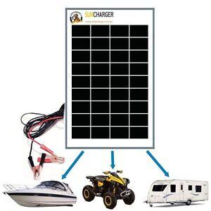 10W-12V-MONO-SOLAR-PANEL-REGULATOR-TRICKLE-BATTERY-CHARGER-RV-AGM-Complete-Kit