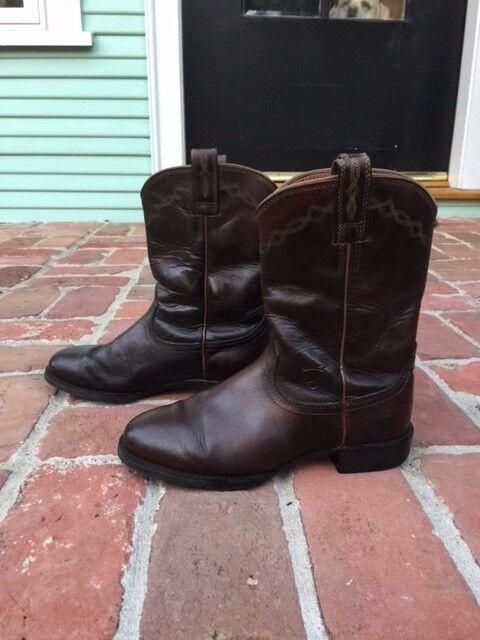 Ariat Western Boots Women's Cowboy Heritage Roper Size 6 C Dark Dist Brown 14525