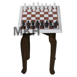 Remarkable Details About Marble Chess Board Set Inlay Vintage Stone Pieces Coffee Table Top Side Table Gmtry Best Dining Table And Chair Ideas Images Gmtryco