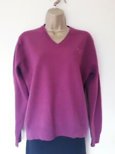 LOVELY-LADIES-GANT-100-LAMBSWOOL-JUMPER-IN-EXCELLENT-CONDITION-DEEP-PINK-V