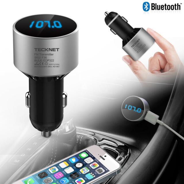 Bluetooth 4.0 Wireless FM Transmitter Radio Car Music Player USB Charger Kits UK
