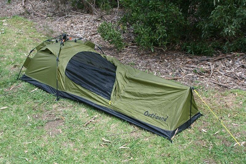 Nuevo saliente de configuración rápida Bivy Swag Tienda de campaña con espacio de ejército verde de camping