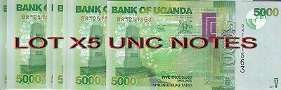 Uganda P 51-5000 Shillings 2010 UNC