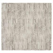 Tadpoles Light Grey Wood Grain Interlocking Foam Floor Play Mat Tiles NEW