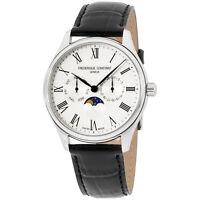 Frederique Constant Classics Men's Leather Moonphase Watch