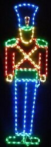 Christmas-6-feet-Tall-Toy-Soldier-Outdoor-LED-Lighted-Decoration-Steel-Wireframe