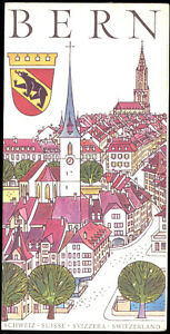 tour-Prospekt-Bern-Schweiz-mit-Panorama-Innenstadtplan-1965
