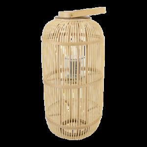 Windlicht Bodenlicht Laterne Bodenlicht Bodenlaterne Bambus Glas 37x76 cm