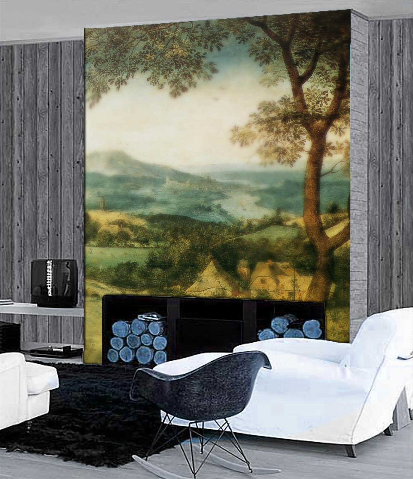 3D Hazy Landscape 9060 Wall Paper Wall Print Decal Wall Deco Wall Indoor Murals