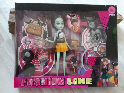 Puppen & Zubehör Gothic Puppe mit Zubehör Fashion Line Mädchen Spielzeug Geburtstag