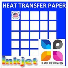Dark Iron On Printable Heat Transfer Paper Cotton Fabrics 85x11 Inkjet 50 Sh
