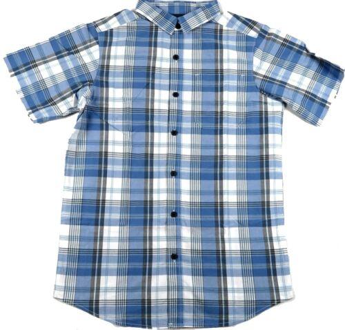 Men/'s Shirt Columbia SS Thompson Hill Yarn Dye Woven Button-Down NEW