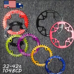32-42t-104BCD-Round-Oval-Chainring-MTB-Bike-Chainwheel-Chain-Guard-Sprocket-CNC