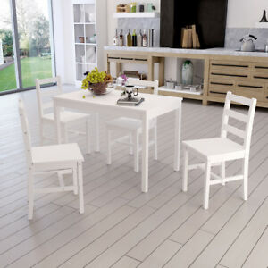 Image Is Loading Natural Wooden Dining Table With 2 4 Chairs