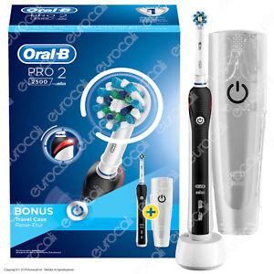 Oral B PRO 2 2500 Spazzolino Elettrico Ricaricabile Braun Timer Testina Custodia