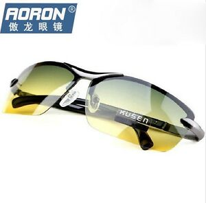 77b4e5b4b635 Image is loading Day-Night-Vision-Mens-Polarized-Sunglasses-Driving-Pilot-