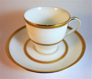 Vintage Demitasse Minton Gold Encrusted Band & Ring Cup & Saucer Set  7061