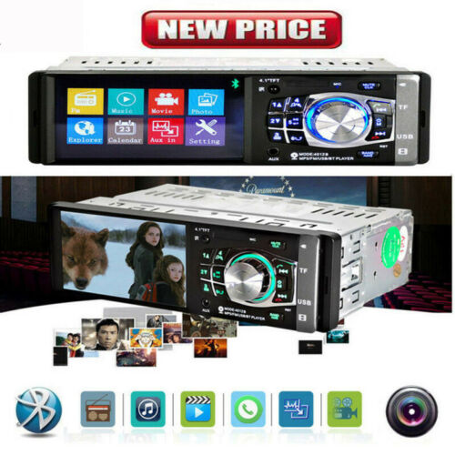 "4.1/"" HD Single 1DIN Car Stereo Video MP5 Player Bluetooth FM Radio AUX USB SD TF"