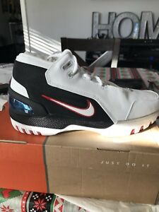 Details about AIR ZOOM GENERATION LEBRON 1 White Black Nike First Game AZG 10, ORIGINAL!!