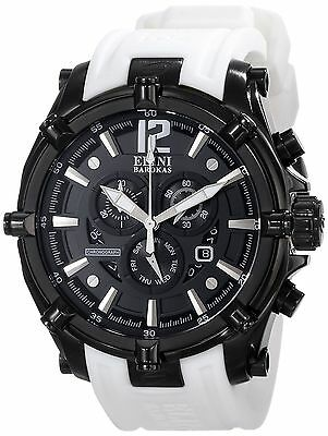 Elini Barokas Men's ELINI-10179-BB-01-WHTS Fortitudo Analog Display Brand New