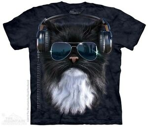 Cool-Cat-with-Sunglass-Shirt-Mountain-Brand-In-Stock-headphones-Small-5X