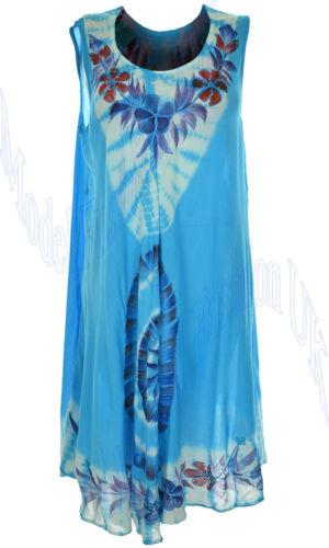 Womens Ladies Summer Celebrity Floral Print Tunic Swing Kaftan Top Plus Sz 14-24