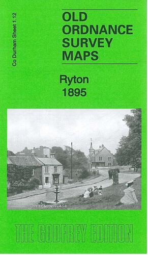 OLD ORDNANCE SURVEY MAP RYTON 1895 SOUTH GRANGE HEDDON HAUGHS RUN HEAD