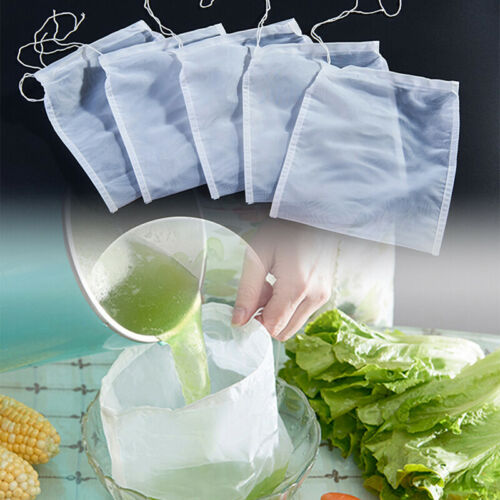 Nut Milk Bag Reusable Almond Milk Bags Nylon Mesh Food Strainer Cheese IC