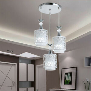 Details About 3 Head Modern Ceiling Light Hanging Pendant Lamp Dining Room Chandelier Fixture