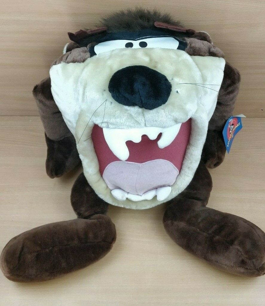 24  Tall Vintage 1998 Looney Tunes Tasmanian Devil Taz plush Soft Toy with Tags