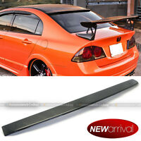 Jdm Carbon Fiber Rear Roof Wing Spoiler Visor Make For 06-10 Honda Civic 4dr